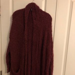 Sweaters - Chenille cranberry sweater
